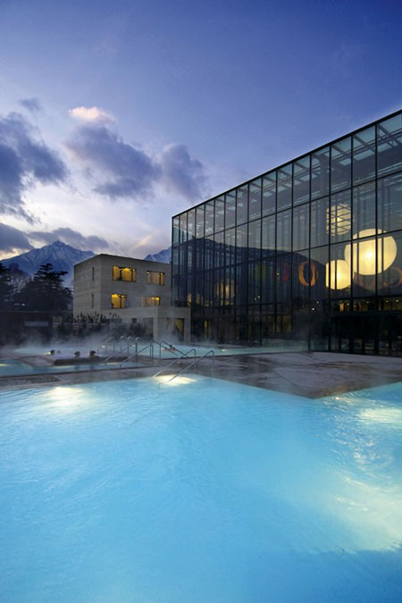 Merano Terme at night
