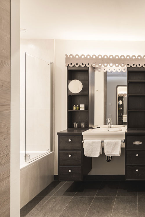 Chalet modernes Badezimmer Schnalstal