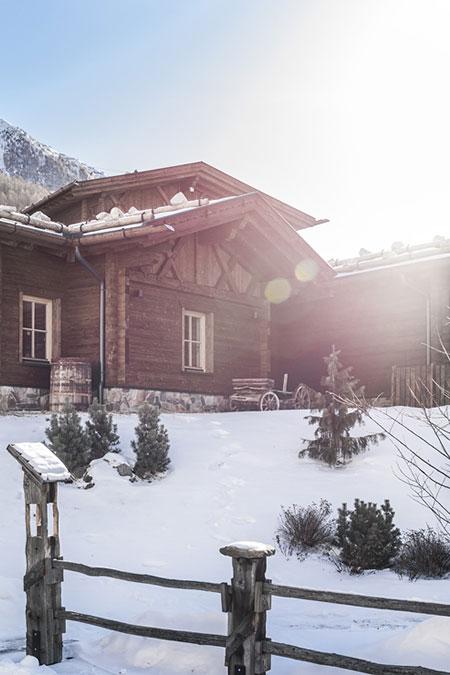 Rundwanderung im verschneiten Schnalstal