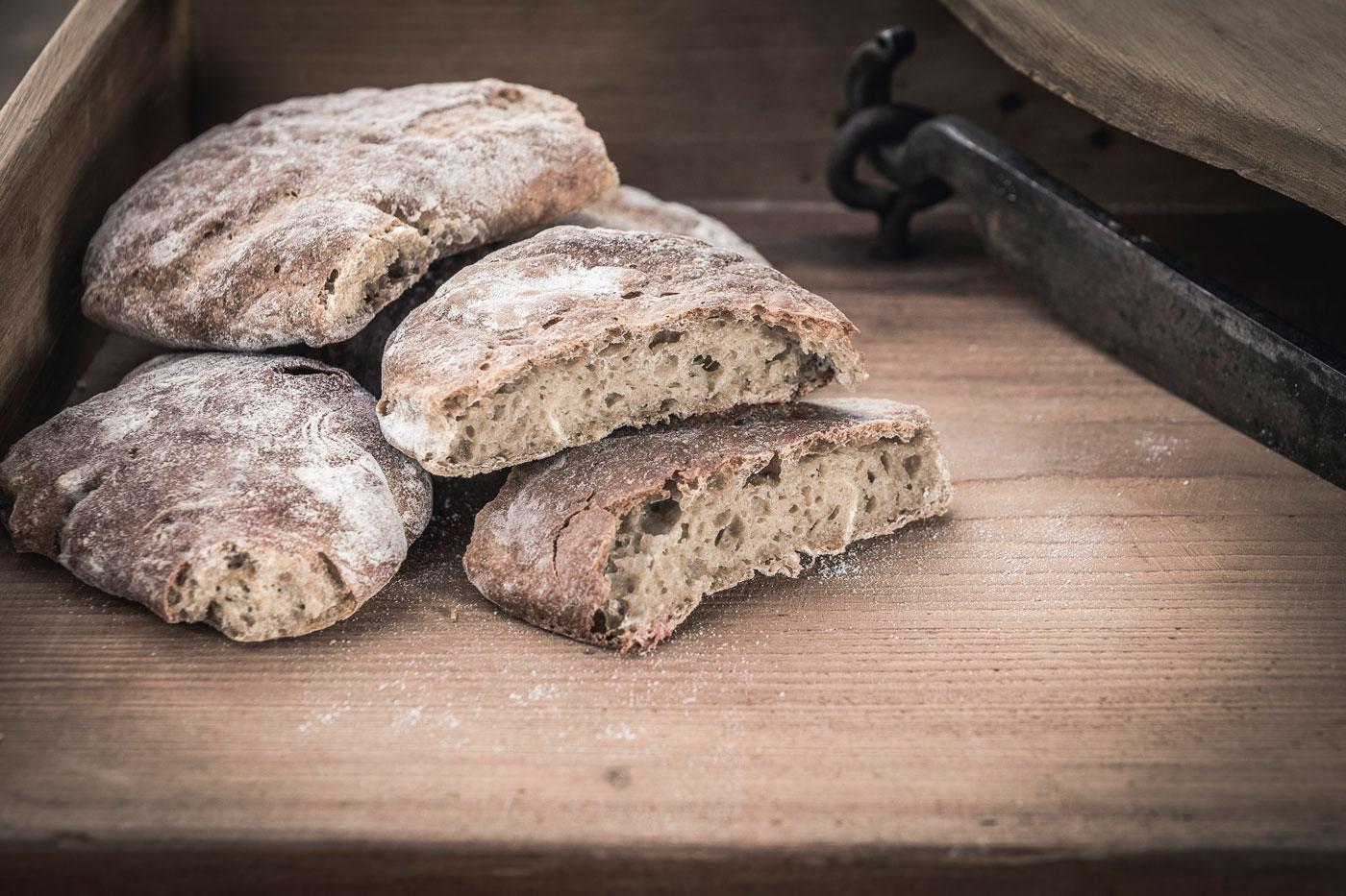 Handmade bread Val Senales