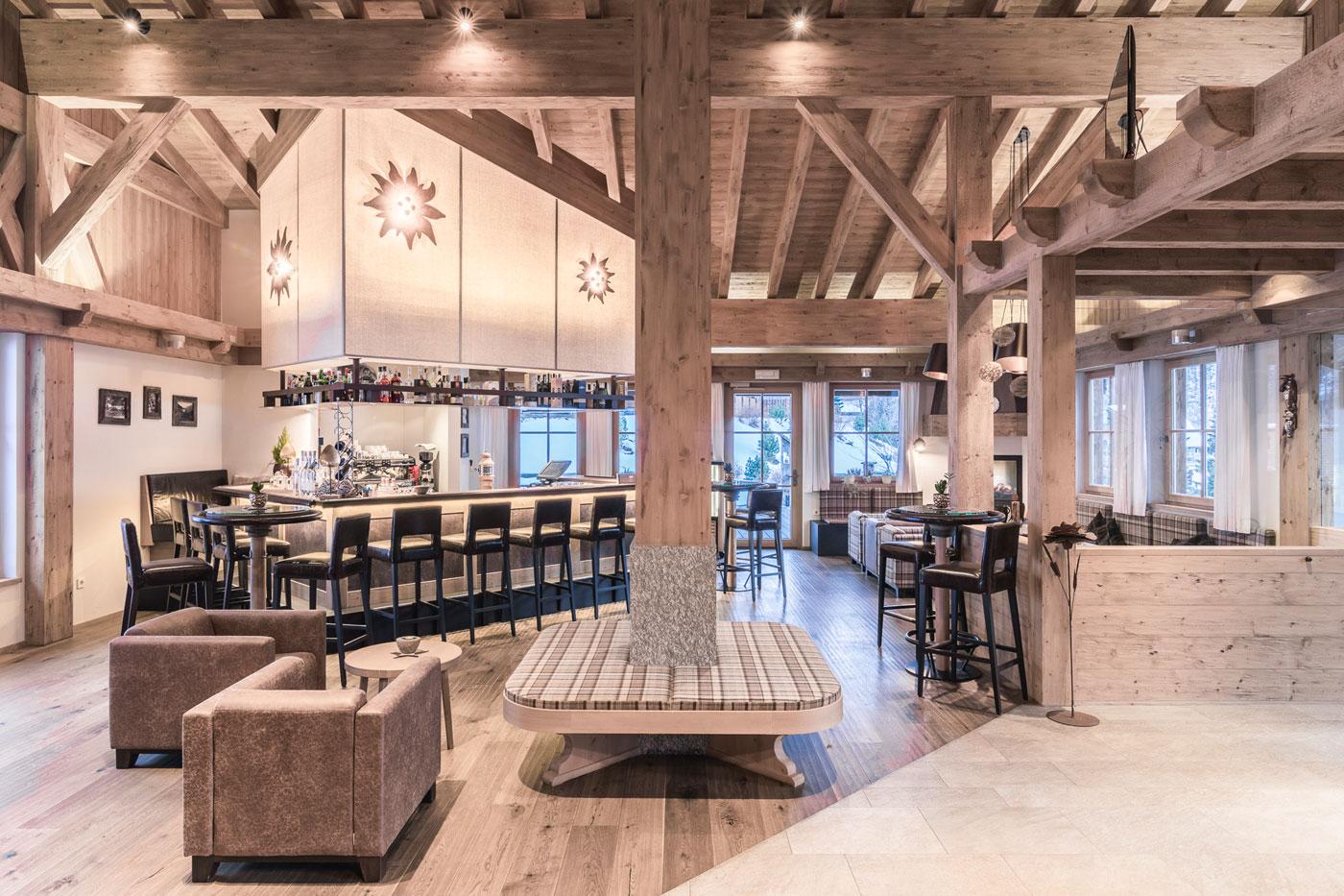 Chalet lounge bar Alto Adige