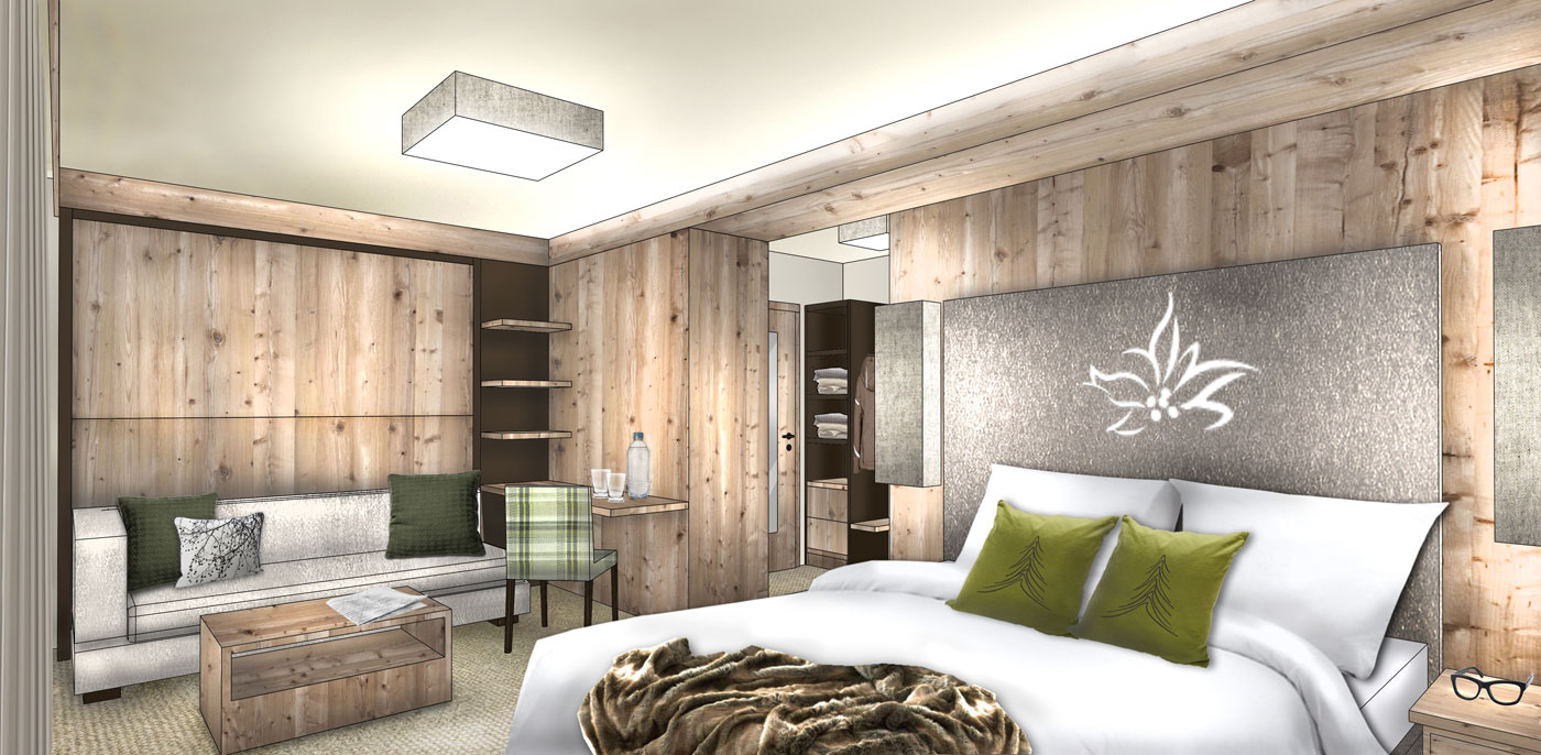 Hotel moderne Zimmer Schnalstal