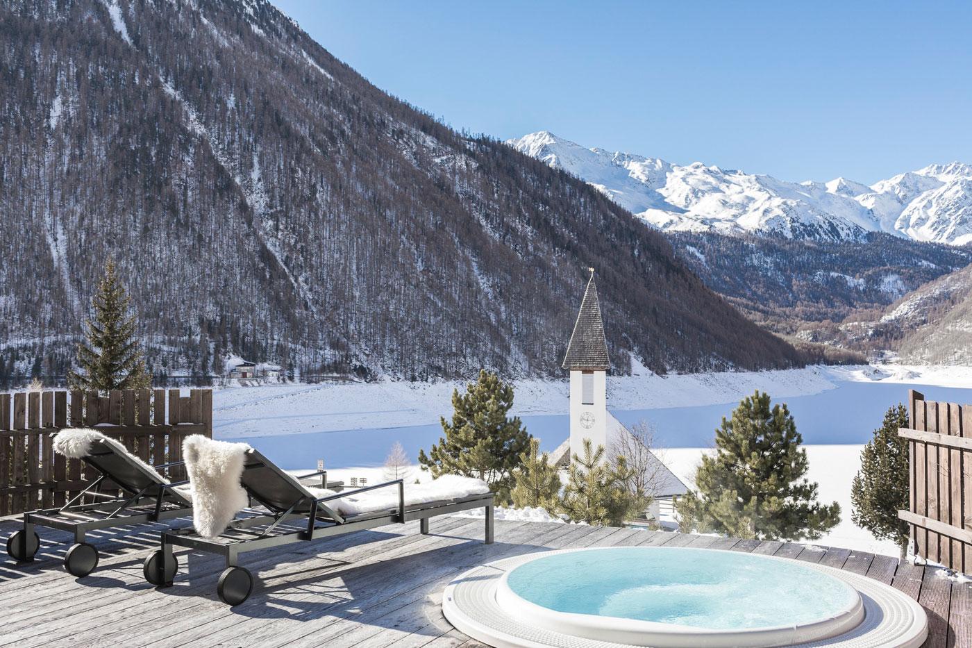 Wellness Ausblick See Südtirol